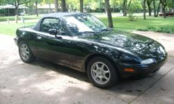 Black with black interior . 136 K miles - VERY NICE CAR --Mostly originial. I have owned this car for 8 years and have had excellent service. price is FIRM. HAS 5 SPEED AND COLD AIR --16 THOUSAND MILES ON TIRES AND BREAKS