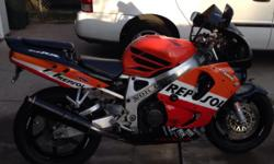 I have a 1996 honda cbr 900rr sport bike great condition really nice. Interested call 916 494 4224