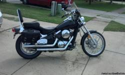 1996 Kawasaki Vulcan 800 up for sale. V&H pipes, mustang seat, windshield, saddle bads, brand new front and back dunlop tires. Very clean and shiney. Clean title in hand. if you want to know more, just email me. 22039 miles as of now.