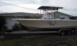 GREAT FISHING BOAT WITH MANY UPGRADES. 2002 MERCURY EFI 225 HP (NEW POWER HEAD 4-18-13) THE FOLLOWING ITEMS ARE NEW: POWER PACKS, STARTER, ALTENATOR, OIL RESEVOR, PLUGS AND WIRES, THROTLE AND SHIFTING CABLES. THE TRAILER HAS UPGRADED AXLES ($900.).