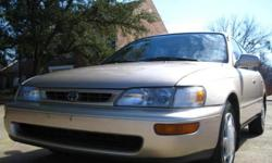 Details for 1996 Toyota Corolla DX Address:1951 W Division St., Arlington, TX 76012 Year:1996 Make:Toyota VIN:1NXBB02E3TZ492513 Model:Corolla DX Mileage:176,327 For Sale By:Dealer Description CARFAX CERTIFIED. COMES WITH 6 MONTH POWER TRAIN WARRANTY! ONE