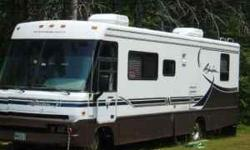 1997 Winnebago Adventurer 32' motor home Class A - Chevy 454 engine. Well maintained mechanically.All new tires, only 1500 miles on complete brake job, new HWH, rebuilt generator, new serpentine belt, new parking gear/emergency brake), rear hitch with