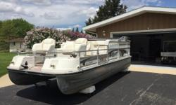 40 Years on Lauderdale Lakes! Good Friends of mine have sold their house and retiring down south! They have a lot to sell...Including 1998 Landau Pontoon Boat DX-18 Castaway 18' Pontoon Bimini Top Boat Cover Battery Charger - Dual 10 amp Depth Sounder