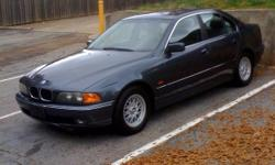 1998 BMW 528I 4,900 O.B.O. 133K MILES DEEP GREY WITH SILVER LEATHER INTERIOR WOOD GRAIN POWER EVERYTHING VERY CLEAN 561-688-4400