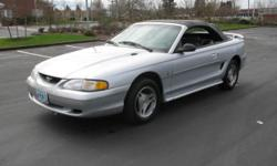 1998 Ford Mustang Convertible 2D Miles : 133,482 Transmission : Automatic Engine : V6 3.8 Liter Drivetrain : RWD VIN : 1FAFP4441WF122436 Stock # : P-1185 Equipment: AM/FM Stereo Air Conditioning Alloy Wheels CD (Single Disc) Cassette Cruise Control Dual