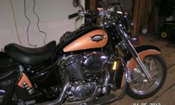 1998 honda shadow 18000 miles everything works dressed out in corba pipes running boards windshield saddle bage tires are good has been in storage since 2008 battery has been keep on a trickle charger but will need to be replaced