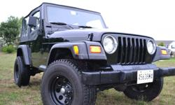 "98' Jeep Wrangler SE Sport Utility 4x4 - 5 speed 2.5 ltr. with 146,000 miles on body 36,000 miles on new Jasper engine This Jeep is in excellent condition, recent paint job, new top, new 16"" rims & 31""tires, 2"" suspension lift along with 1"" body lift,"