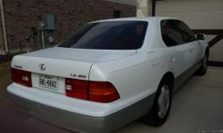 1998 Lexus LS 400 for sale. Very clean and in good mechanical condition. All leather interior, pearl white, Lexus megs, very good tires, working A/C, radio, CD player, and overall in great shape.