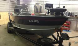 """READY TO GO! 1998 1775 Lund Pro V SE single console with 115 Mercury motor. Runs Great! 2015 Upgrades- Forward Electronics -24V Minnkota Terrova w/Ipilot and remote -Lowrance Elite 7""""w/chirp, navigation, and lake maps -Lowrance Hook 100 color sonar"""
