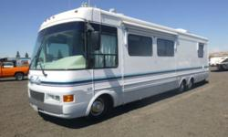 Attend Bar None Auction event online or on-site in Sacramento, CA and bid on RV & Motorhomes like this 1998 National RV Tropi-Cal Motor Home. V8 Gas, Automatic, A/C, AM/FM, T.V., Hydraulic Leveling, Slide Out Living Room 12' W x 3' L, Recliner, Kitchen