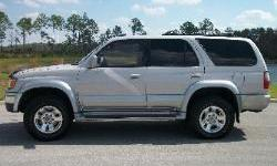 This is a 1998 Toyota 4-Runner, Limited edition. This Toyota is 4x4 with an automatic transmission. It is silver with tan leather interior. This SUV is clean inside and out! The tires are all in good condition and it has a full size spare. It features