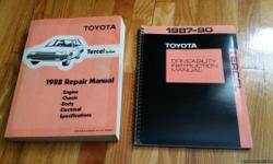 1988 Toyota Tercel Factory Shop Manuials, wiring manual and driveability manual.