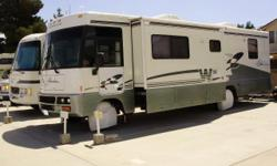 CLASS A34 ft with slide out,excellent condition inside and out,bath tub and shower with sliding glass doors separatre toilet and sink.2 tvs.All kitchen appliiances are in good condition very clean for a1998.Sleeps 6 well taken care of ,Automatic levelers
