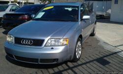 1999 Audi A6 V6, 2.8L, automatic, silver exterior, Salvage title, A/C, CD, power windows, power locks, power steering, ABS (4-wheel), leather, power seats, dual air bags, cruise control, tilt wheel, moon roof. Call or text for more info (619) 208-5705