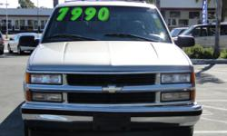 This Suburban is in great shape for being 11 years old, ONLY HAS 134,000 miles, power windows, power locks, seating for 8, powerful v8 engine, alloy wheels, tow package, tinted windows, roof racks, air conditioning, CD player, AM/FM stereo, and MORE!