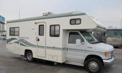 Price:$7200 Year : 1999 Make : Fleetwood Model : Jamboree Type: Motorized class C Water capacity (gallons): 41-50 Length (feet): 24 Sleeping capacity: 6 Air conditioners: 1 Fuel type: Gas Vehicle title: Clear Condition: VERY GOOD Miles : 70,428 Like new