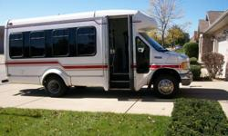 This 1999 Ford E-350 16 passenger Disel bus has been lovingingly converted in to a 7-9 passenger RV. Sleeps 1-5; has refrigerator and microwave; plenty of storage for your camping gear. Just finished a West Coast trip and it drove like a BMW