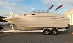 CD,Trailer,Batteries,Compass,AM/FM Radio I have a 1999 Monteray cabin cruiser 26.5 in length. Equipped with full kitchen/ micro, bath/shower, Queen bed. Cooler fridge, CB Radio, A/C, Propane Stove, 2 sets of canvas. Complete boat canvas. Bravo 3