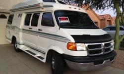 1999 Pleasure Way Excel Rd , Class B motorhome, 20 ft. Dodge 3500. Two owners. Lovingly maintained. Immaculate interior. Exterior very good. 3-way refrigerator is 2 yrs old; microwave; stove top; A/C is 1 year old, gas furnace; self contained bathroom