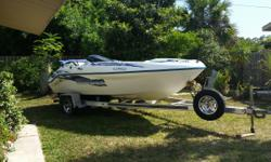 Easy fix sun damage from previous owner & stuck steering since 6 weeks ago ..... garaged for the 4 years I've owned & starts easy / runs great. Twin ROTAX on nice aluminum trailer with good awning top. Lot of boat for the