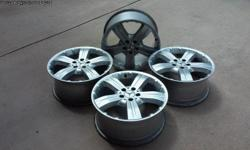 """I have a set of rims that I would like to sell, they are in GREAT condition, 19"""", gunmetal color. I am posting lots of pictures so you can see all angles. They are for sale for $425.00 for the set. Contact me thru my email address on classifieds"""