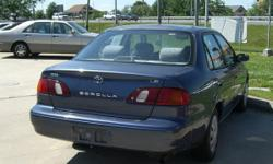 2001 Toyota Corolla for sale $1,000 OBO New radio, speakers, windshield and tires Clean title 141,000 miles