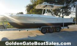 2000, 29' STRIKE 29 Custom Cuddy Center Console Twin CUMMINS 330HP 6BTA DIESEL INBOARDS 2012 Real X (18,000lb capacity) Aluminum Tri-Axle Trailer Included Immaculate Inside Stored Boat that's 100% Ready to Go at $89,500 VESSEL INFORMATION & ELECTRONICS: