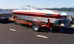 open bow blue water, covers bimini top volvo penta out drive 3.0 ltr merc. with only 116 hours on it. This boat is clean and very dependable, Ski,Fish,cruise in the nice weather. Wont last long at this price. Call or text at