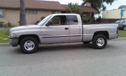 2000 Dodge Ram SLT 1500 4 Door Quad Cab 5.2 V8 AUTO, CD Player, Tilt wheel, Cold AC, PS, PB, Bed liner, 129,000 Miles Runs Great, Pink Slip in hand, $5200. please call 909-649-4218 No email or text please