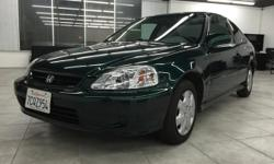 CLICK FOR FULL INVENTORY: http://5starautos.net/  916-368-7886  1,500 DOWN ! NO CREDIT OK!!! WE DO NO CREDIT CHECK & NO INTEREST FINANCING!!!  2000 HONDA CIVIC EX GREEN COUPE! ALL POWER! GREAT MPG*GREAT FIRST CAR* DRIVES NICE! PASSED SMOG!
