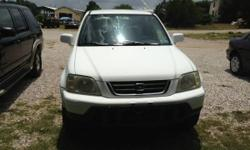 2000 HONDA CR-V, SPORT UTILITY, 4-CYL, AUTOMATIC, AIR CONDITIONING, CRUISE CONTROL, POWER WINDOWS, POWER LOCKS, ROOF RACK, DRIVER AIRBAG, PASSENGER AIRBAG, RUNS/DRIVE GREAT. JUST CHANGED OIL, AND BRAKES