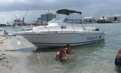 """2000 Robalo Cutty Cabin with low hours (150) 250 Mercury Engine The boats fuel tank is 138 gallons and water tank is 25 Gallons. Boats Diminsions LOA 24'.6 Draft 18"""" Beam 8'6"""" Displacement 4900 Great overnighter, w/sink, cabin shower, marine head. This"""