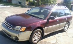NO REPAIRS NEEDED!!! 2000Subaru Outback AWD, Salvage Title, 2.5L, AC, auto, am/fm/cass, power windows/locks/mirrors, cruise control, heated seats. Runs great.Recent accident damage repaired (New left fender/inner tie rod end).New