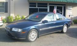 00' Volvo S80 T6 Only 65k Miles!! Auto, Leather heated seats, Dual climate Cold A/C Full power, seats, windows, mirrors - sunroof loaded ABS, all airbags, Security system, premium sound steering wheel controls, service completed! Ready to go! Call or stop