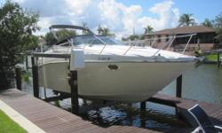 2001, 27' MAXUM 2700 SCR Single Gas 7.4 MerCruiser 310HP Sterndrive with Bravo III Duo Prop Outdrive Dockside Air Conditioning - Awesome Cockpit Seating - Beautiful Maple Wood Interior! Brand New Listing at Only $29,500 (Lift Stored with Lots of TLC)