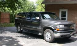 Extended cab, 4 x 4, 5.3, offroad pkg, cruise, a/c, power locks/windows, am/fm/cd, leather seats, console, bed liner, cap, visor, bug shield, running boards w/fender flares. 44,800 miles. Excellent condition.