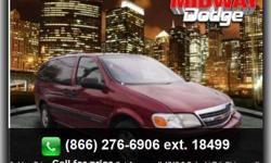 Power Door Locks, Digital Compass, Dual Sliding Doors, 3Rd Row Seats, Cruise Control, Remote Entry, Cassette Player, On*Star System, Dual Air Bags, Side Impact Air Bag(S), Factory Tinted Windows, Alloy Wheels, Abs Anti-Lock Brakes, Rear Climate Control,
