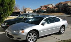 FOR SALE 2001 CHRYSLER SEBRING, SILVER, AUTOMATIC, 6 CYLINDER, 2 DOOR, AIR COND., SUN/MOON ROOF, STEREO/CD/CASSETTE, CLEAN INT./EXT. LOW MILEAGE 108,000 RUNS GREAT.