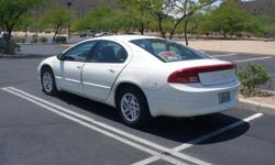 2001 DODGE INTREPID, WHITE 4-DOOR, 2.7 6 CYL.  114,000 MILES, MANY NEW ENGINE PARTS, RUNS GREAT, LOOKS GREAT GOOD TIRES, GOOD BRAKES.  CALL 520-351-9295 OR 520 -909-9170