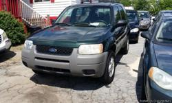 A/C ICE COLD DRIVES LIKE NEW EVERYTHING WORKS (404)458-3839 ************************************************************************ 2001 Ford Escape 4 Door SUV, 6 Cylinders Green / Tan 164,433 Miles Automatic Transmission 3.0L 201.0hp VIN: