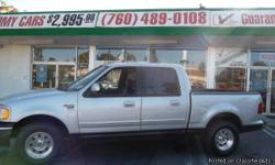2001 FORD F150 XLT SILVER EXTERIOR GREY INTERIOR...PERFECT FAMILY TRUCK OR WORK TRUCK! EXCELLENT CONDITION...GUARANTEED CREDIT APPROVAL REGARDLESS OF YOUR CREDIT HISTORY! FRESH START MOTORS IS AN PRE OWNED VEHICLE DEALERSHIP THAT TAKES PRIDE IN HELPING