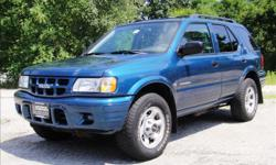 BLUE WITH GRAY INTERIOR, ONLY HAS 76K MILES, THIS 2001 ISUZU RODEO 4X4 IS IN GOOD TO EXCELLENT CONDITION WITH A 3.2 LITER ENGINE MAKES IT GREAT ON FUEL.THIS VERY WELL MAINTAINED VEHICLE INCLUDES COLD A/C,ALLOY WHEELS,AM/FM STEREO-CD PLAYER,AUTOMATIC