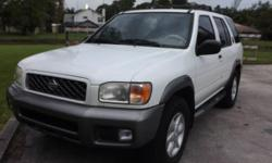Reliable & Roomy SUV, with 3.5L V6 engine, RWD, 4-speed Automatic transmission, Power Locks, Power Windows, Power Seat, Cruise Control, Tilt Steering Wheel, Ice Cold AC, AM/FM with 6 CD Changer, Power Sunroof &Leather Interior. GOOD TIRES!!! Buy with