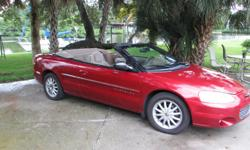 Red Sebring Convertible in great shape. 75,000 miles.