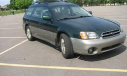 Very Nice 2001 Subaru Outback limited edition. Regularly maintained and gentlyloved, at 180,800 miles Owned by an older couple prioir. Very nice condition, leather seats, disc changes, all power and heated seats and AWD Asking 4000 or best offer.