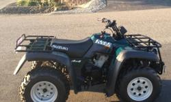 2001 Suzuki Quad Runner 500 CC 4 WD 2500 LB Winch 200 Original Miles $1900 (Price Reduced) if interested contact : all4rick1124@gmail.com or --