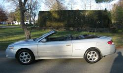 2001 Toyota Camry Solara SLE Convertible  Silver w/ Black Top & Black Leather Interior 3.0L V6 Engine, Automatic All Power Options, Cruise Control, Alloy Wheels, Traction Control 6 Disc CD Player, Extra Set of Keys High Miles But Well Mantained,