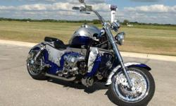 ONE OF A KIND!!!!! HEAVILY MODIFIED 2002 BOSS HOSS 451 CU IN ALL-ALUMINUM SMALL BLOCK V8 MOTOR WITH 600HP!!! 8078 miles!!! Excellent shape!!! Lots of custom accessories have been installed on this bike! No expense was spared! Some of the Details: 451 Cu