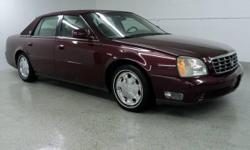 2002 Cadillac DHS - Deville High Luxury Sedan , 4.6 Liter Northstar V8, 166010 Miles. Crimson Pearl with Neutral Leather Interior, Heated Front And Rear Seats, Power Front Seats with Driver Memory Seat, Power Tilt-Telescope Steering Wheel, BOSE