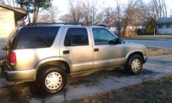 i have a 2002 chevy blazer for sale 194000 miles and still runs strong evrything works for more info call or text me at 317 945 2477 ask for mike